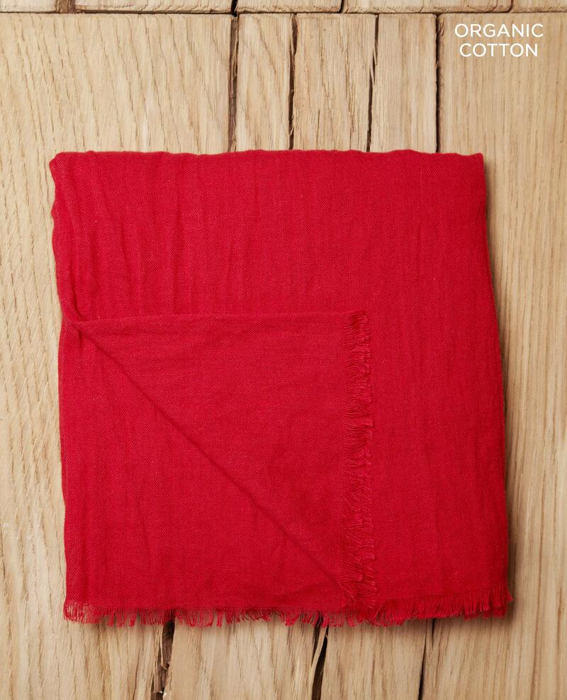 Tuch aus Organic Baumwolle Pompeian red Geste