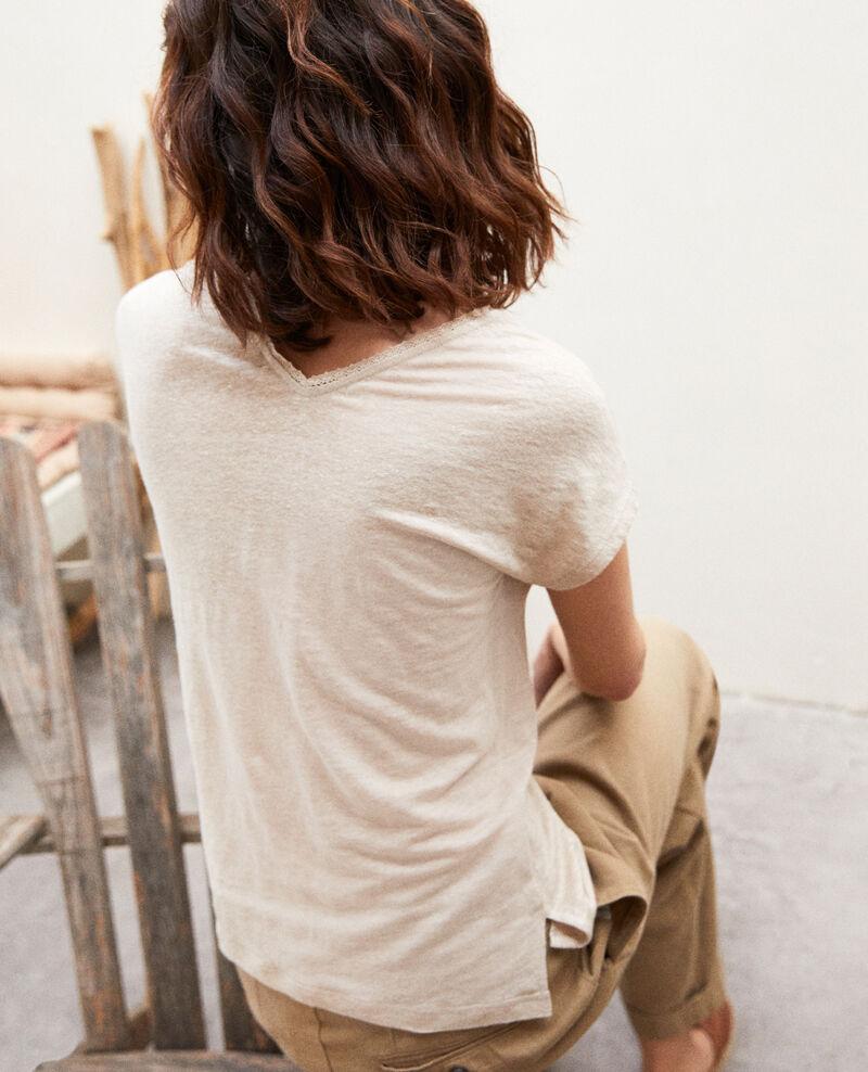 T-Shirt mit Spitze Natural linen Itlanta