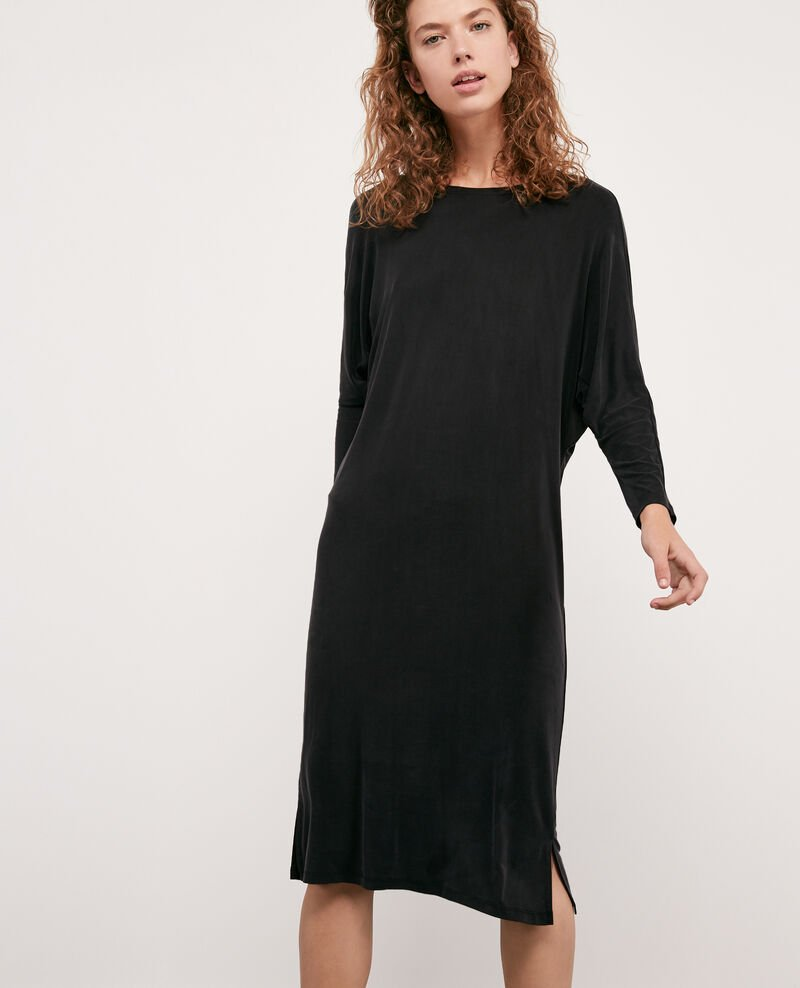 Fließendes Kleid Noir Diplodocus