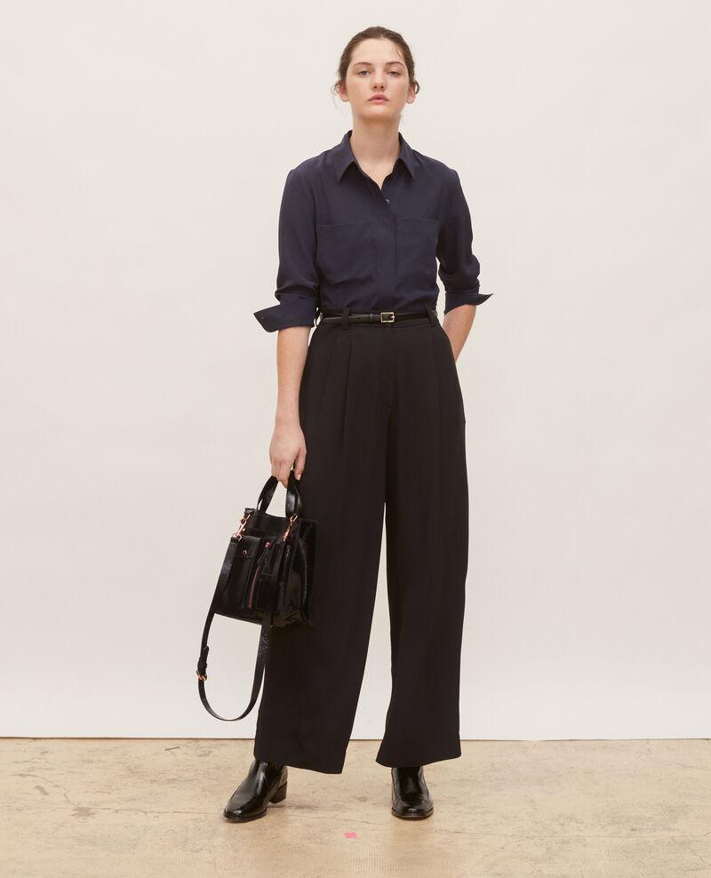 Weite Hose mit hoher Taille Black beauty Mogance
