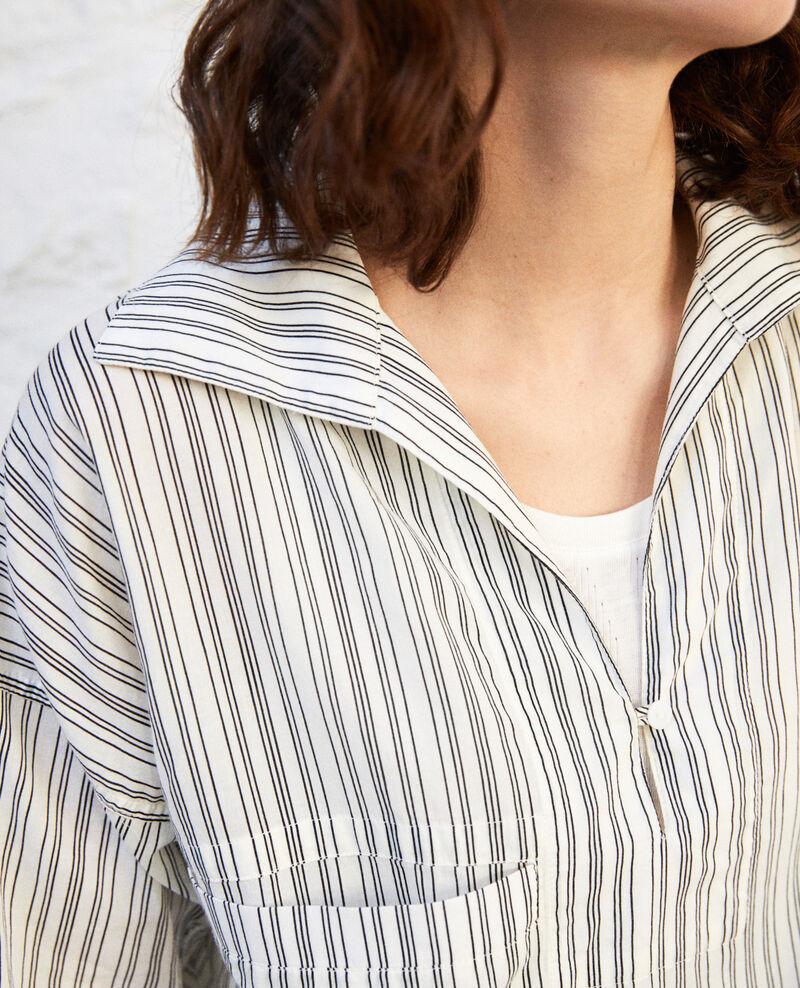 Bluse mit offenem Kragen Off white/grey Iteria
