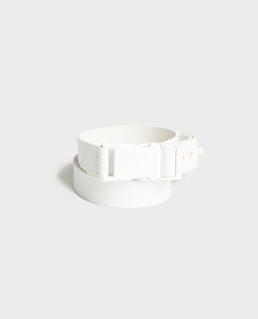 Ledergürtel OPTICAL WHITE