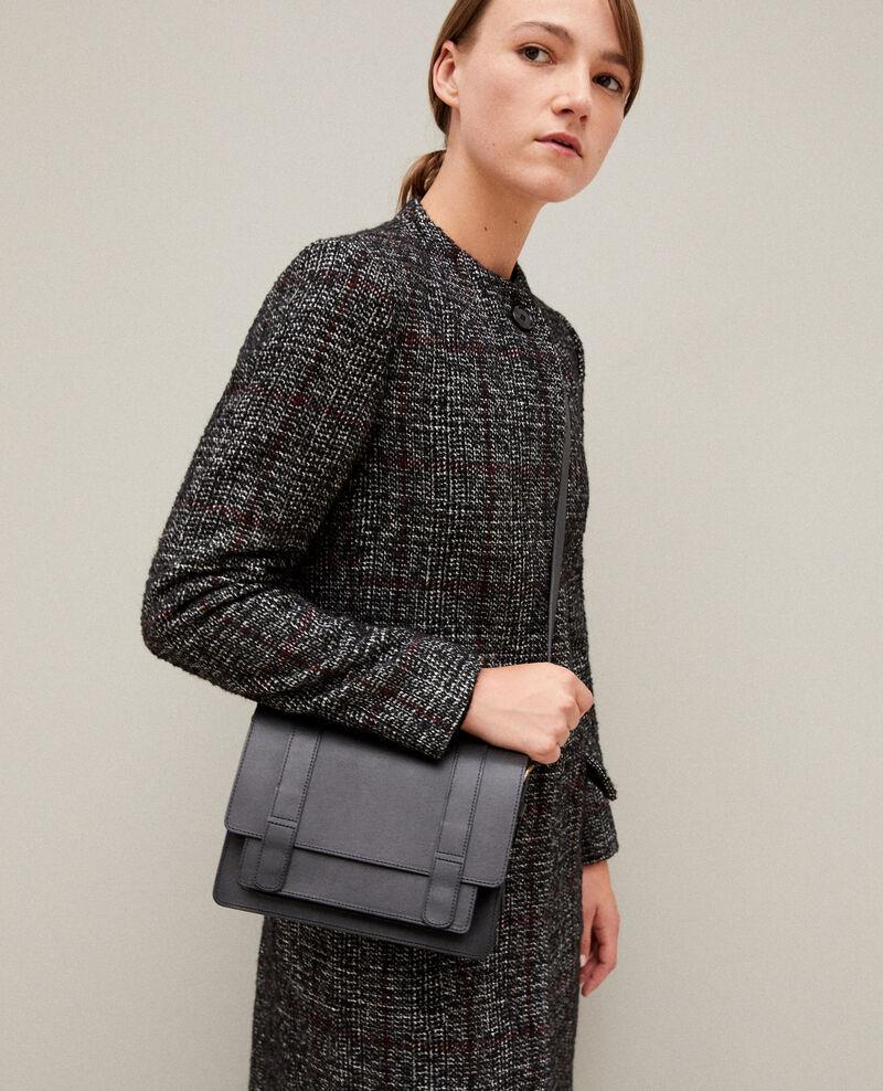 Tasche aus glattem Leder, kleines Modell Noir Garta