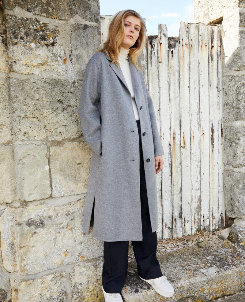 Zeitloser doppelseitiger Mantel  Middle grey Jacare