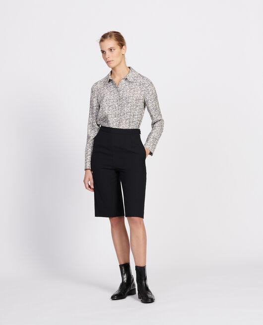 Bluse mit Aufdrucken FEUILLAGE OFF WHITE
