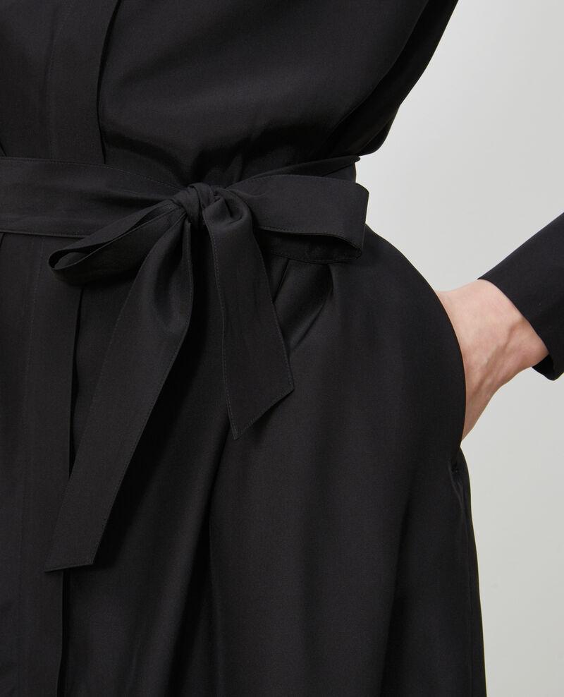 Hemdkleid aus Seide Black beauty Nishiga