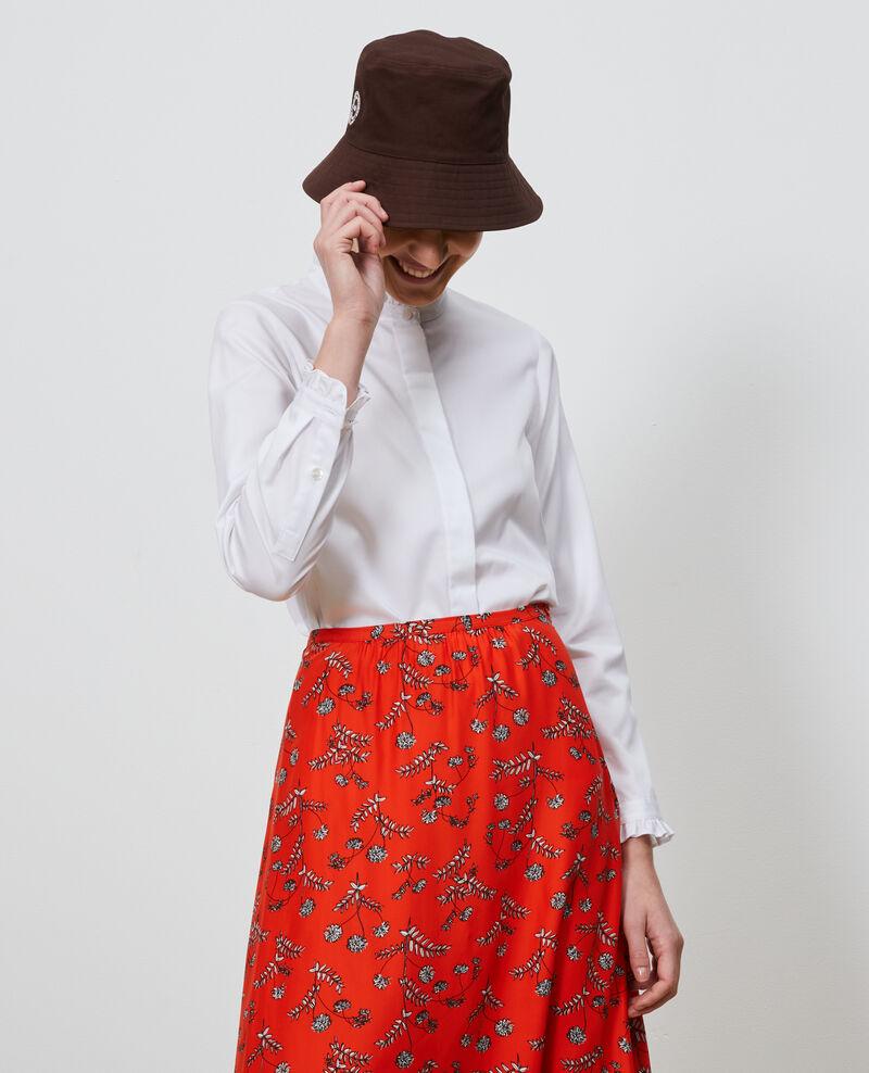 Bluse mit Volant-Kragen Brilliant white Nacelle