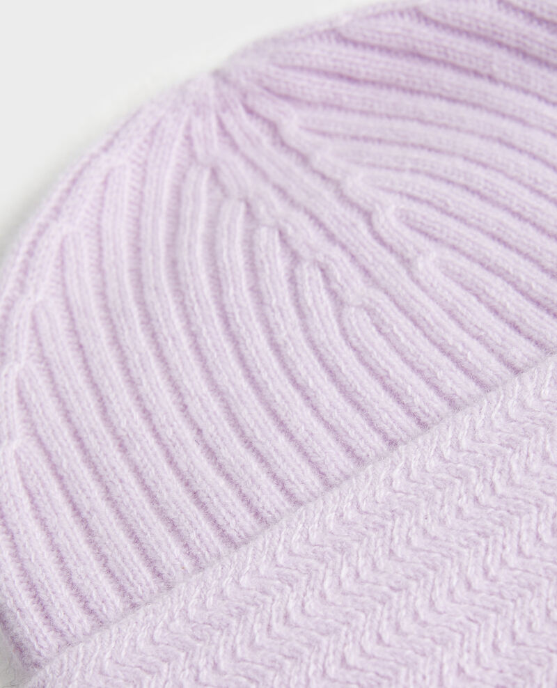 Mütze aus Kaschmir Pastel lilac Minzac