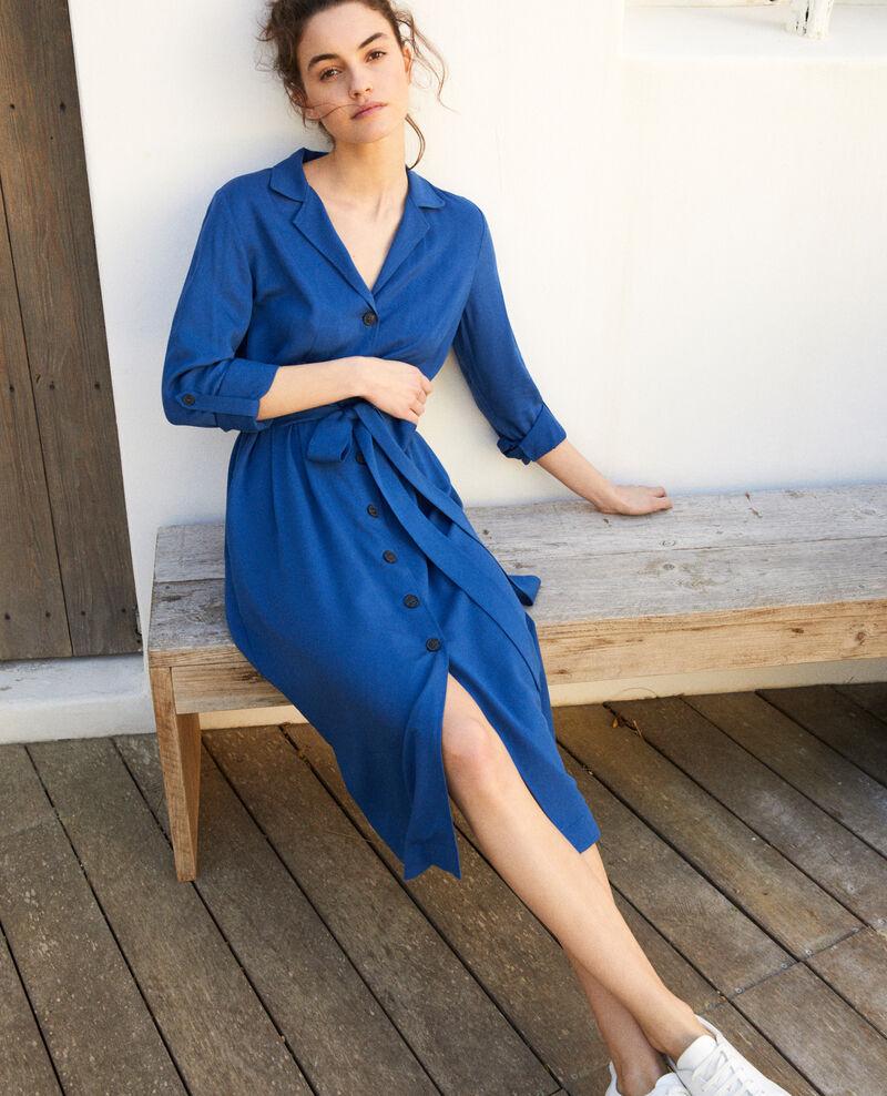 Kleid mit offenem Kragen  Imperial blue Imonade