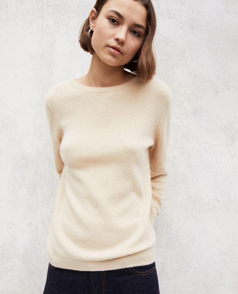 Pullover mit Rundhalsausschnitt aus Mohair Light beige Ixela
