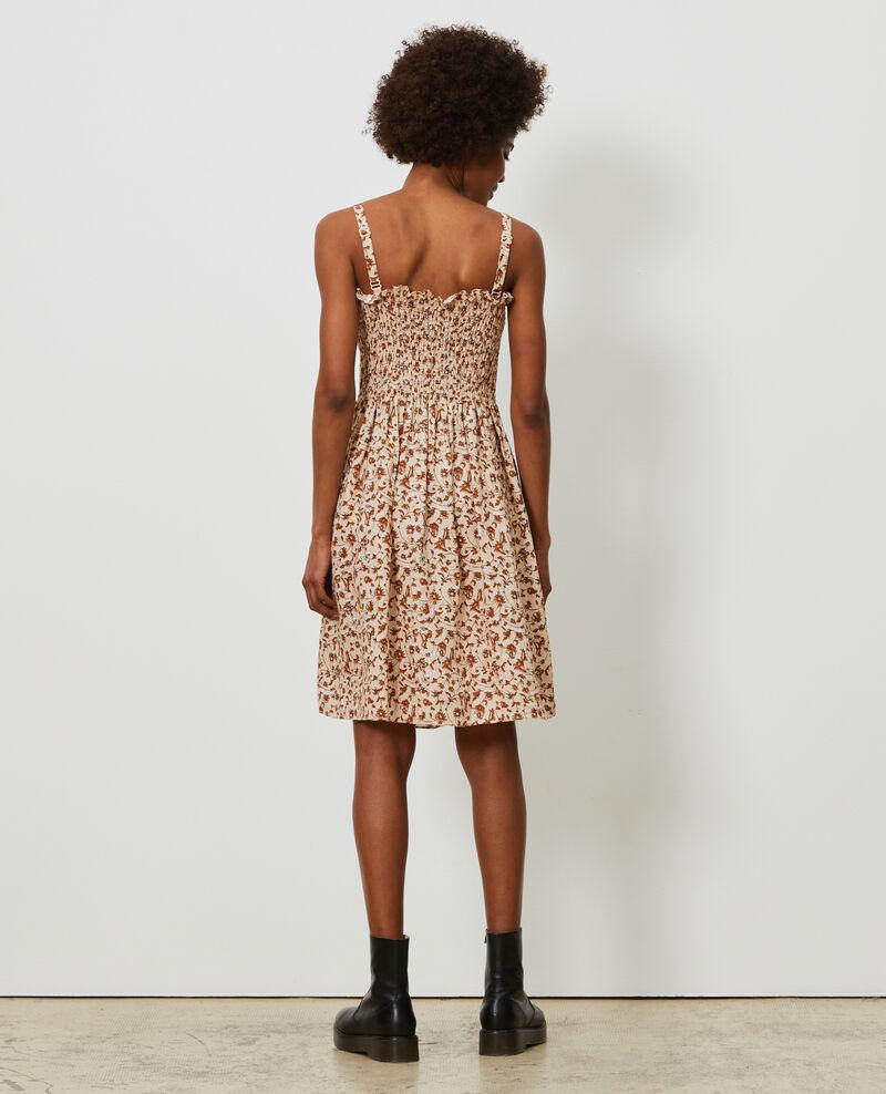 Kurzes Kleid aus Leinen Indie-small-umber Nassandria
