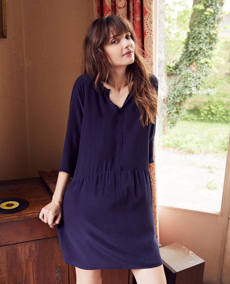 Kleid mit Seide Evening blue Jeopard