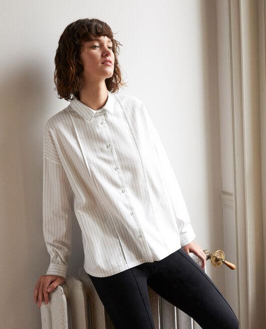 Gerade geschnittene Bluse Weiß