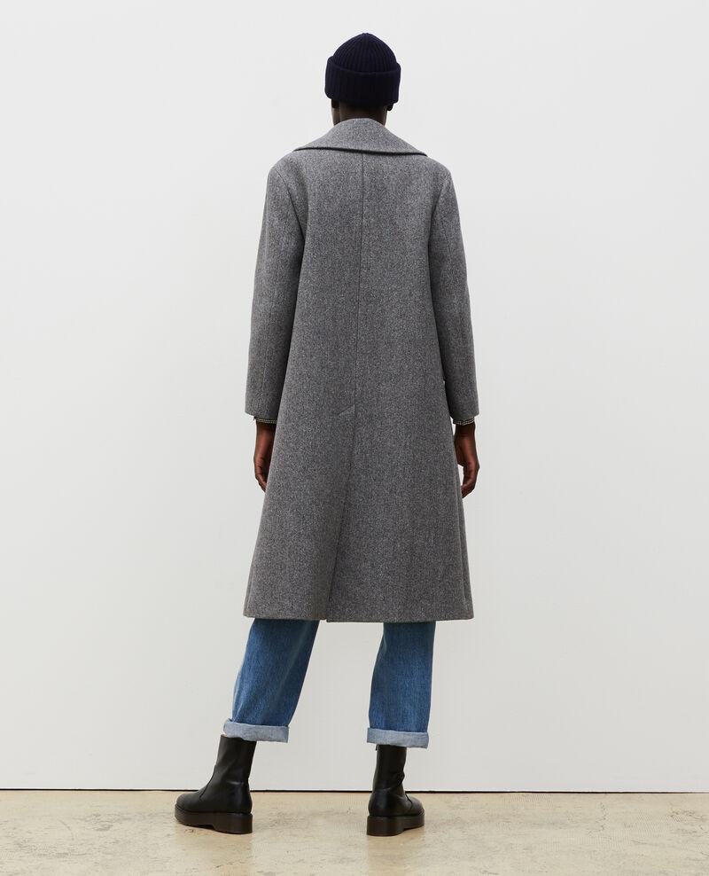 Überkreuzter Oversize Trenchcoat aus Wolle Medium grey melange Massily