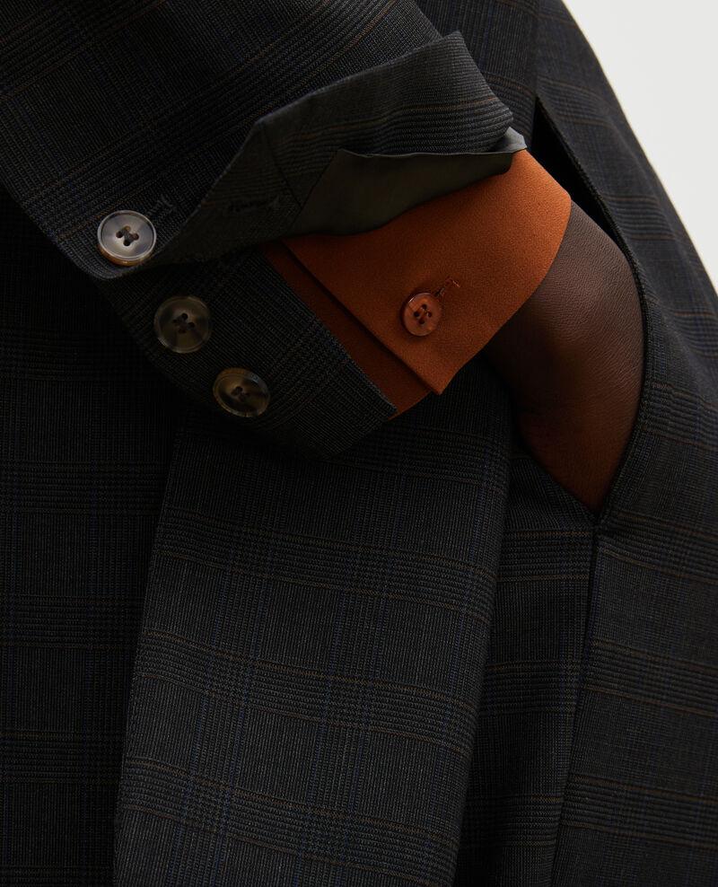 Maskuliner Blazer aus Prince of Wales-Wolle Check-wool-pattern-tailoring Marblou