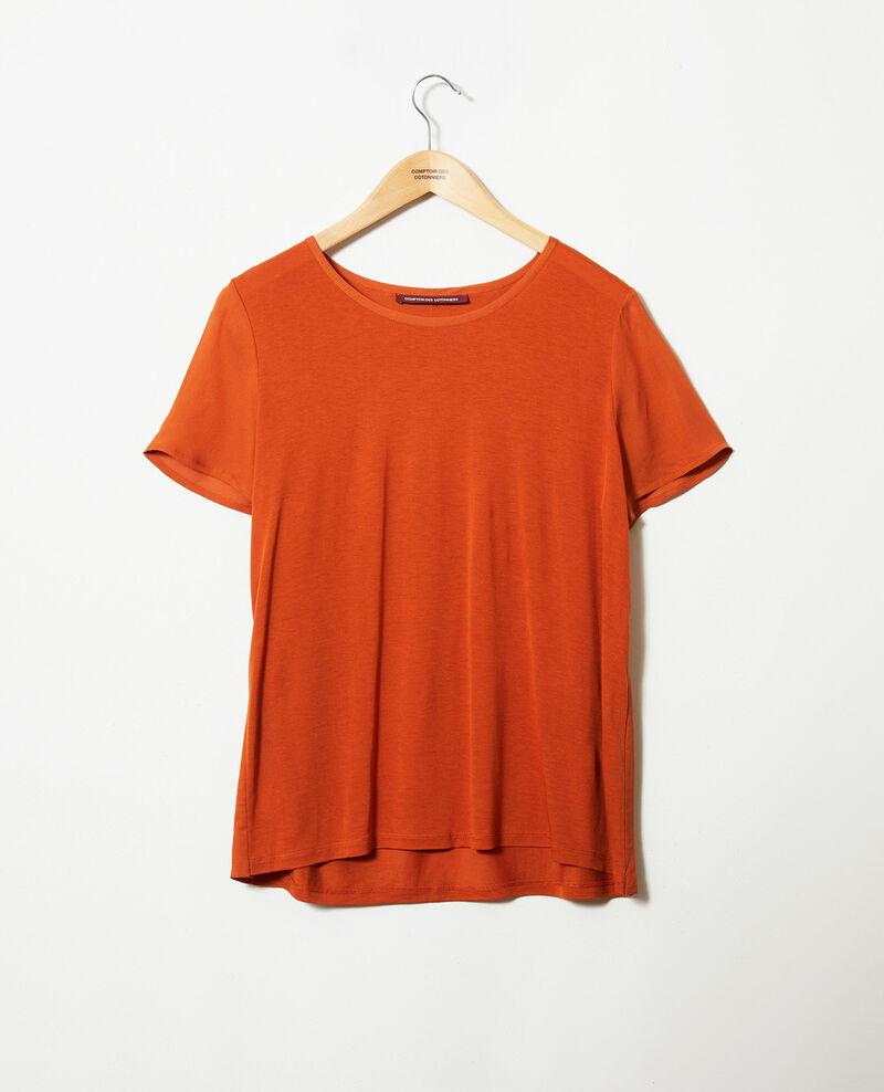 T-Shirt aus Bimaterial Umber Jabelle