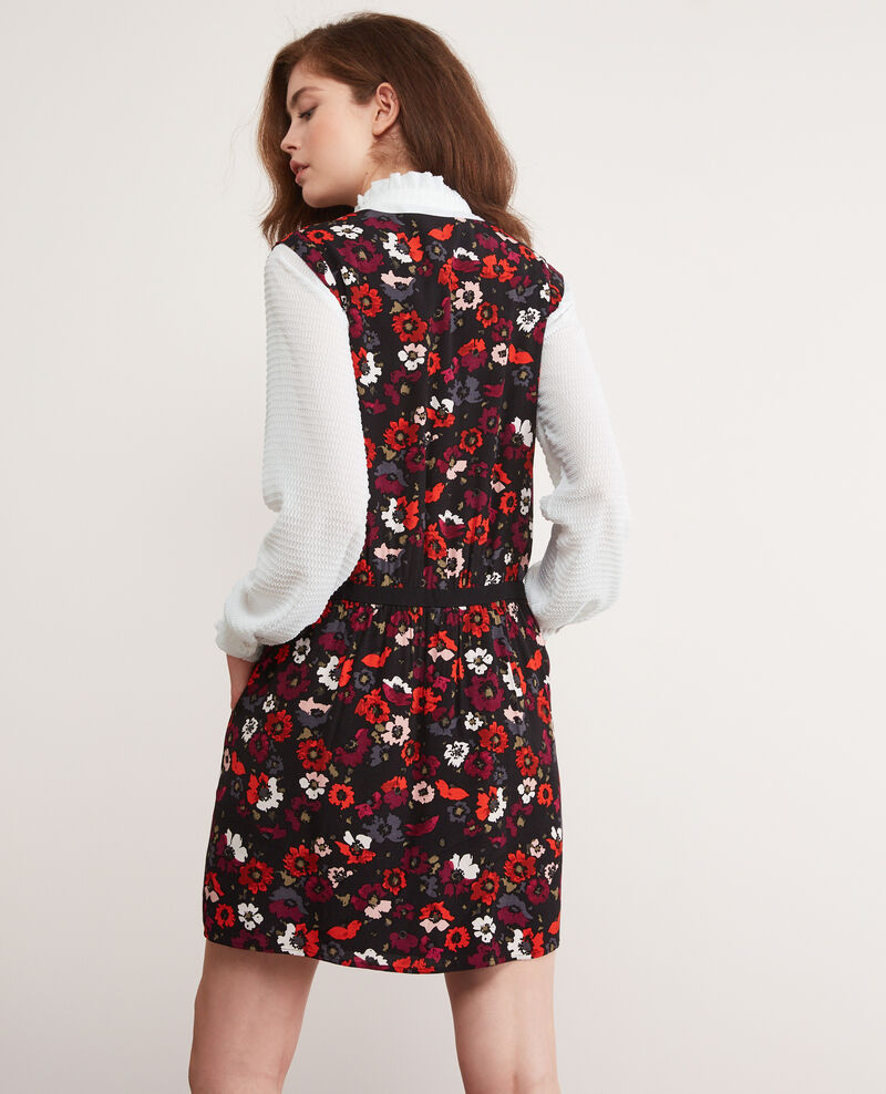 Gemustertes Kleid Poppies black Deso