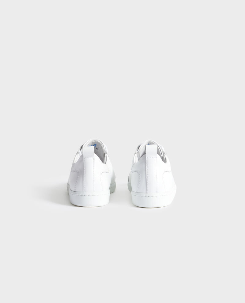 Ledersneaker mit Schnürsenkeln Brilliant white Nouveau