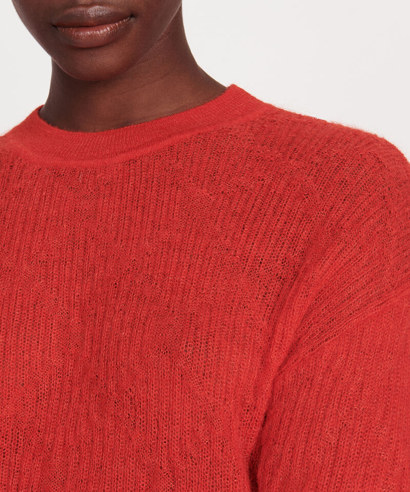 Pullover aus Baby-Alpaka Fiery red Lilirose