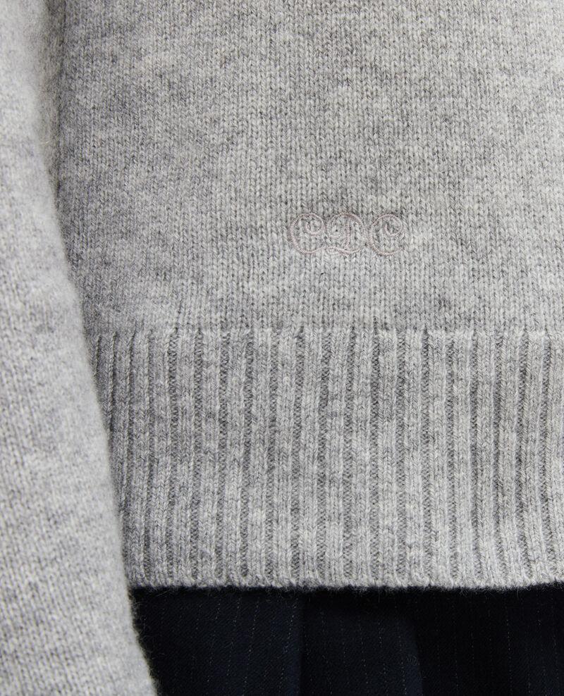 Cardigan aus Kaschmir mit V-Ausschnitt Light grey melange Millac
