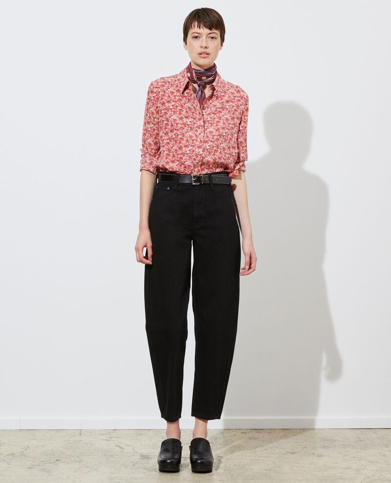 SYDONIE - BALLOON - Weite 7/8-Jeans mit hoher Taille Noir denim Palloono