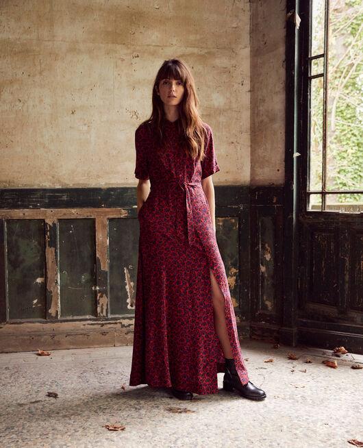 Langes gemustertes Kleid NF MOLTEN LAVA