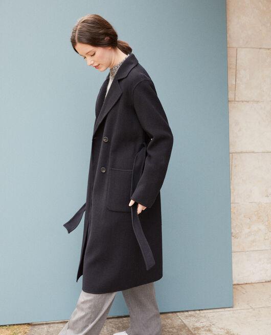 Doppelseitiger Mantel Blau