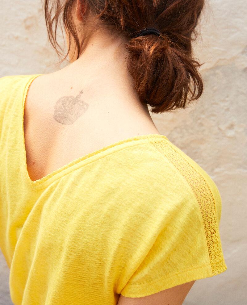 T-Shirt mit Spitze Spice yellow Itlanta