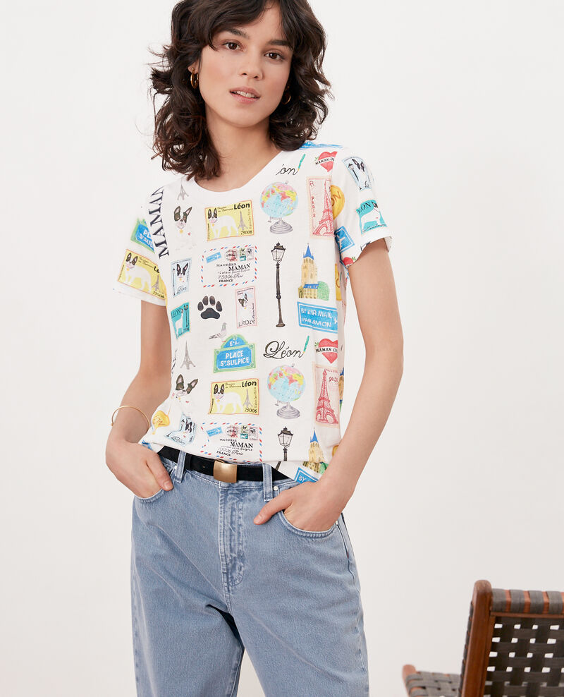 T-Shirt Léon und Paris Off white Fivoli