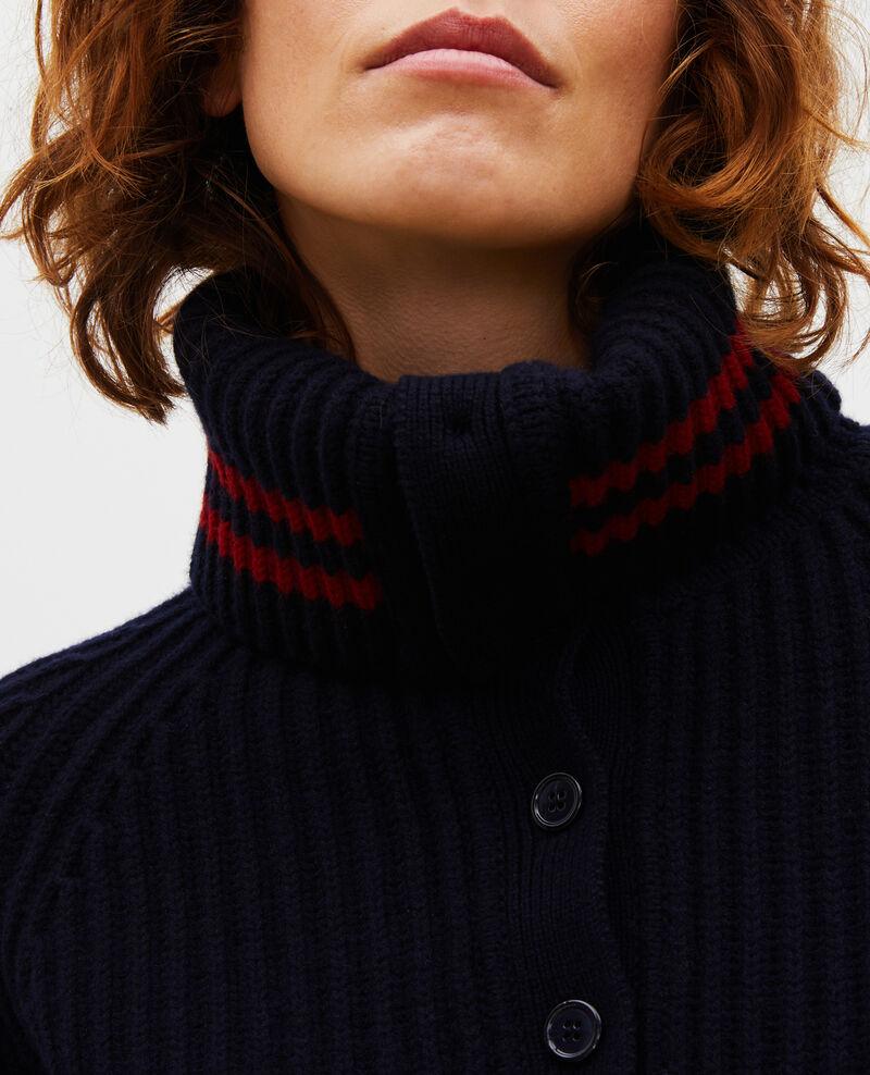 Wollpullover mit breitem Stehkragen Night sky Marsani