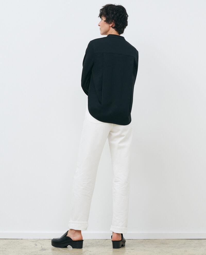 Bluse mit Mao-Kragen Black beauty Piblange