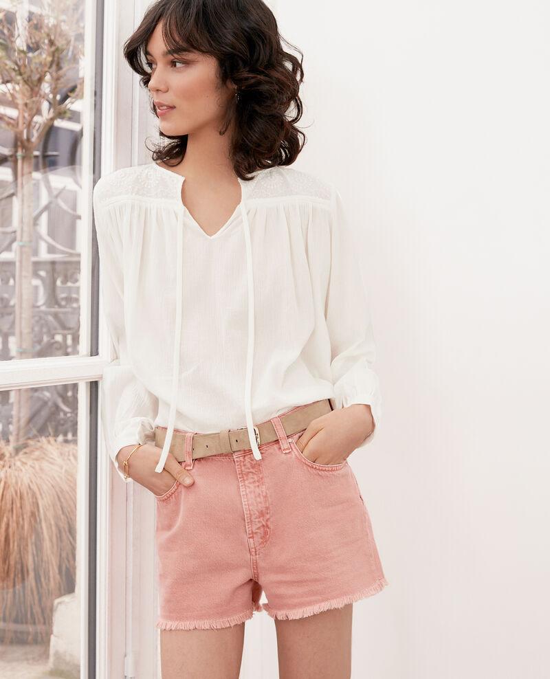 Bluse mit Spitze  Blanc Fhistoire