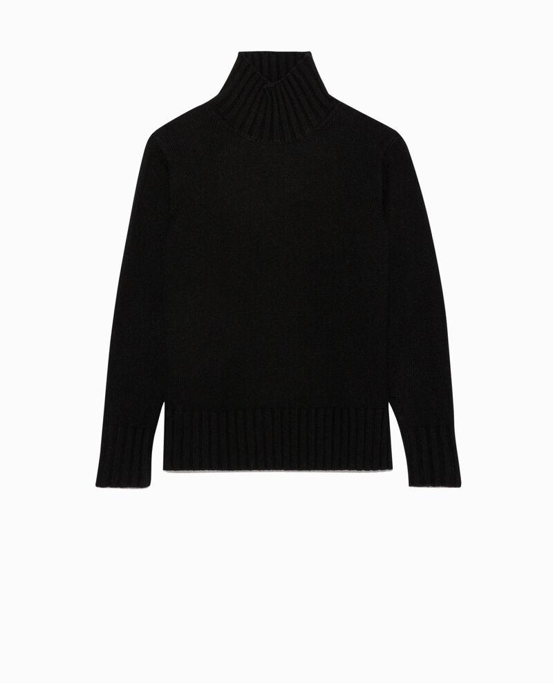 Wollpullover mit breitem Rippstrick. Black beauty Parques