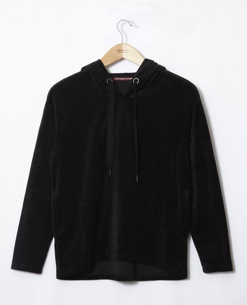 Sweatshirt mit Kapuze Schwarz Ginou