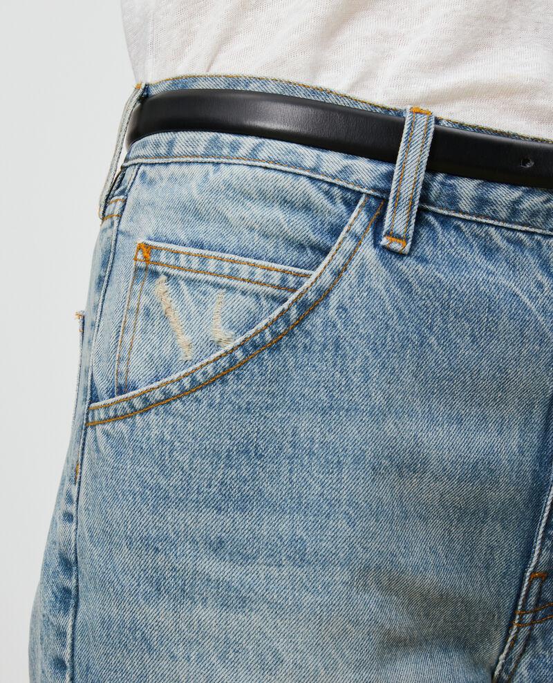SLOUCHY - Verwaschene 7/8-Jeans  Vintage wash Neronage