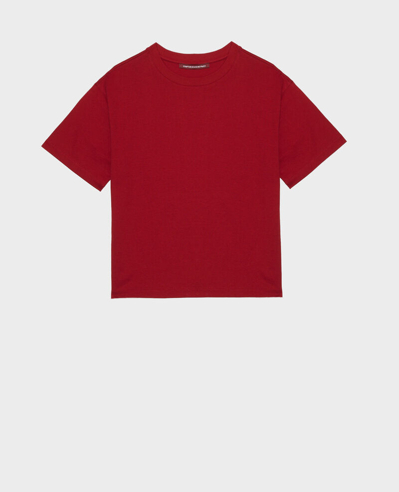 Oversize-T-Shirt aus Baumwolle mit kurzen Ärmeln Royale red Maincy
