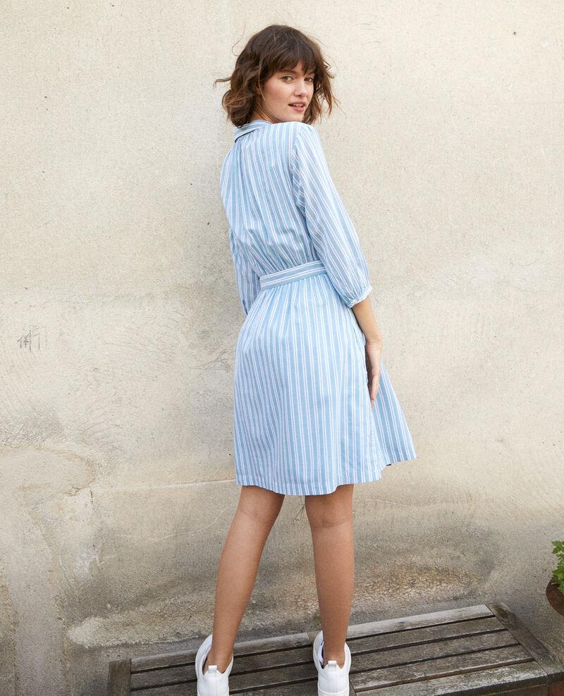 Kleid mit Hemdkragen Blau Gardenia