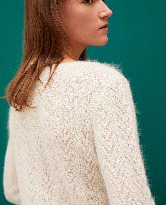 Pullover mit Mohair und Lurex OFF WHITE