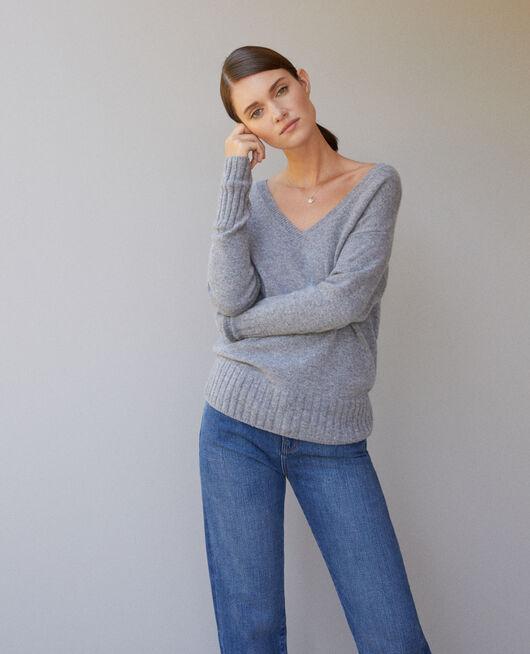 Pullover aus Kaschmir Grau