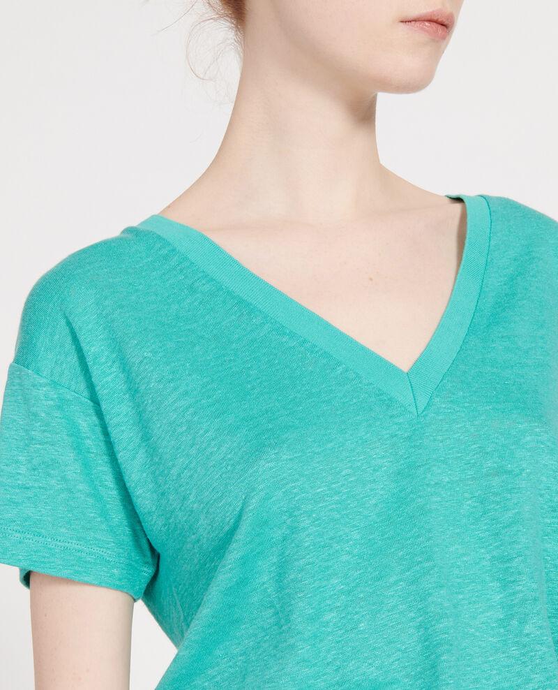 T-Shirts aus Jersey-Leinen Bright aqua Locmelar