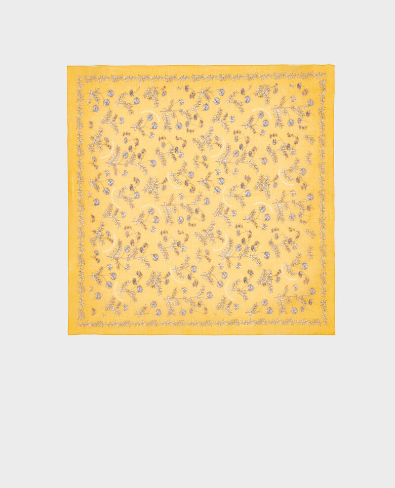 Bandana aus gemusterter Baumwolle Gold fusion Noronille