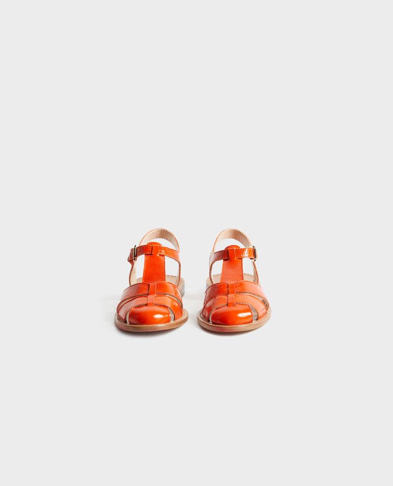Sandalen aus Lackleder Spicy orange Lapiaz