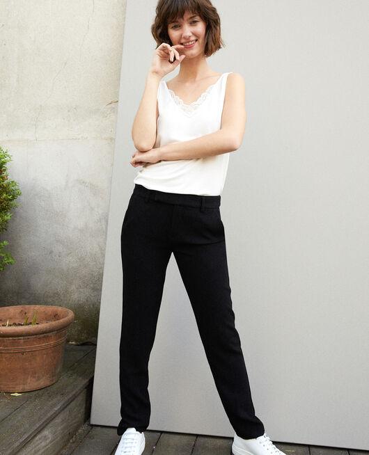 Hose im Anzugstil Schwarz