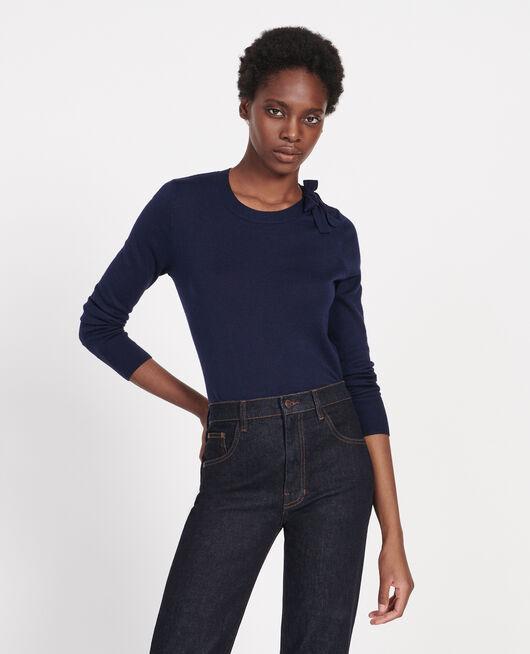 Pullover mit Seide und Kaschmir MARITIME BLUE