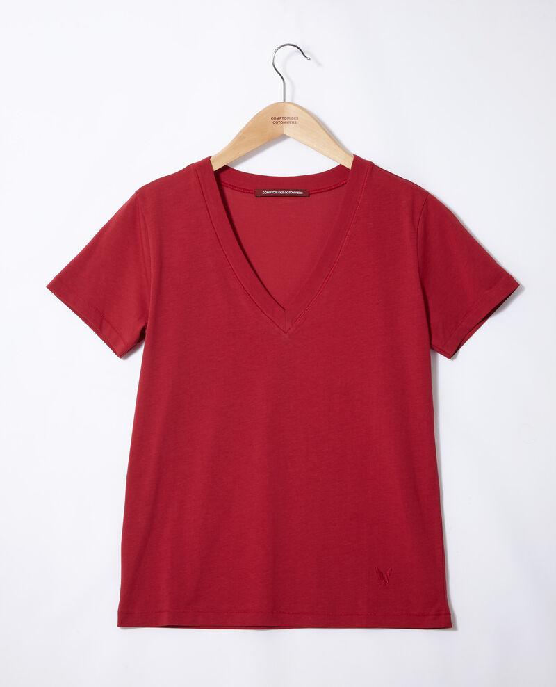 T-Shirt mit Leon-Motiv Rio red Fallen