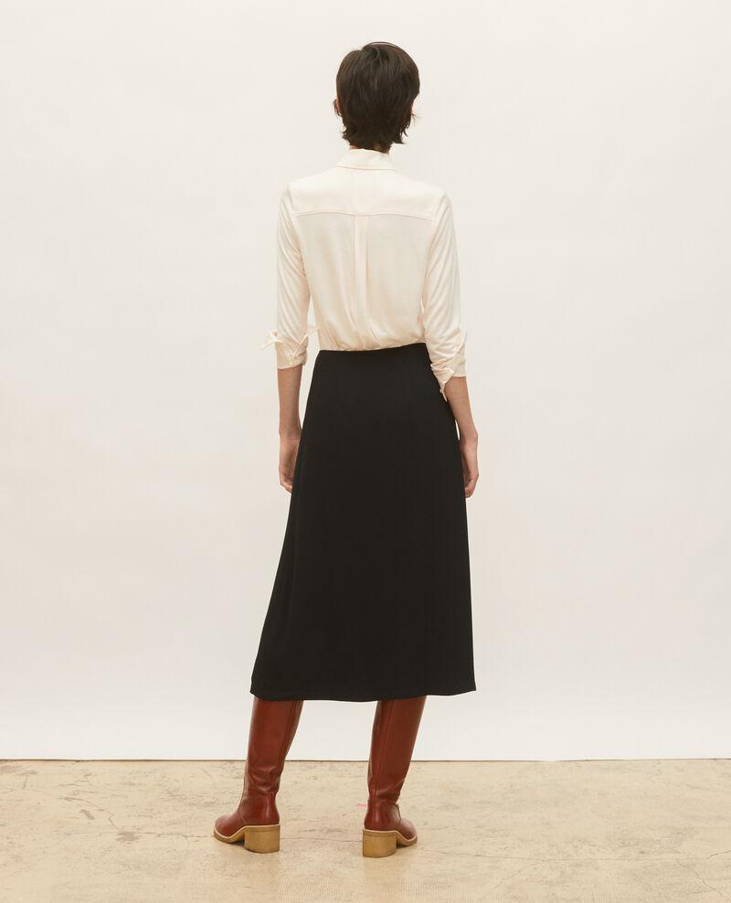 Bluse aus Seidenjersey Buttercream Leanor