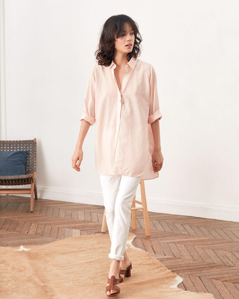 Gestreifte Oversize-Bluse Tangerine stripes Freelance