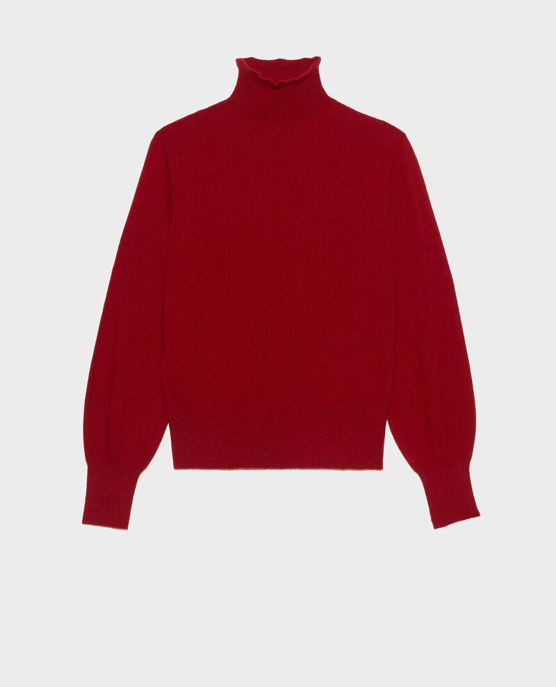 Feiner Pullover aus 3D-Kaschmir mit Stehkragen Royale red Mane
