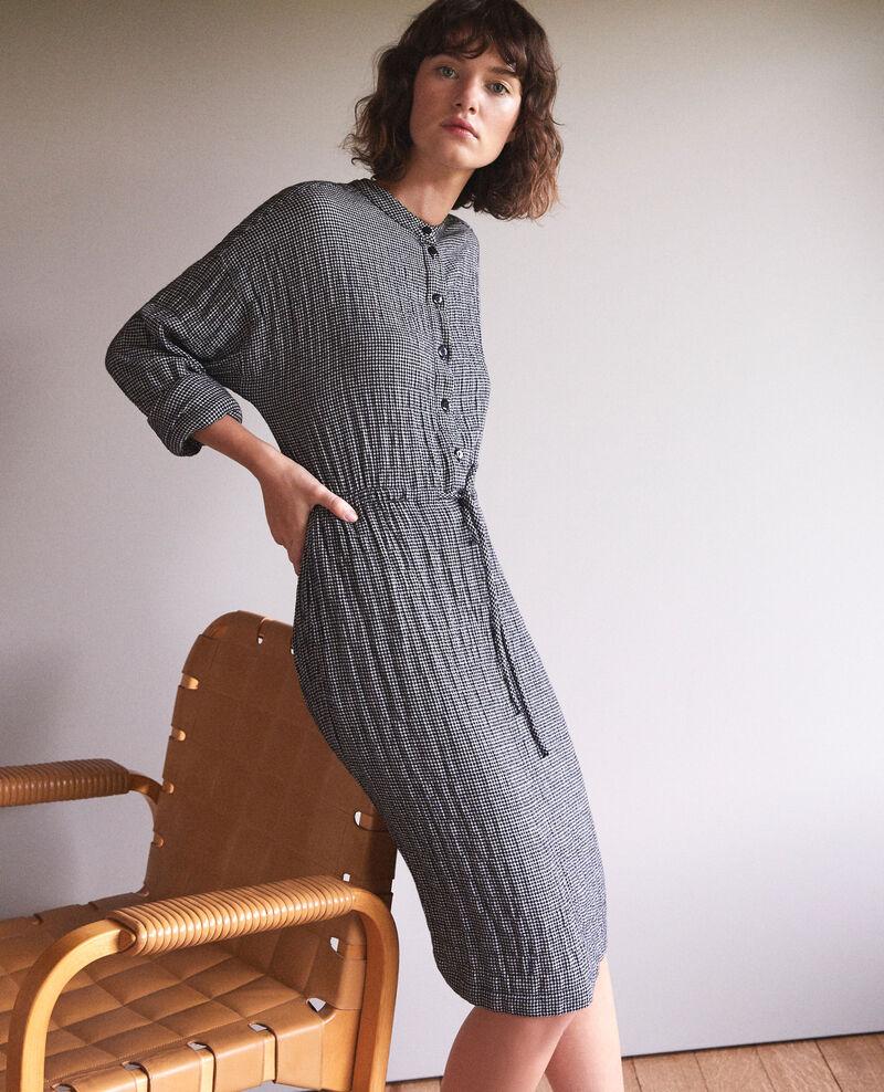 Kleid mit elastischer Taille Grau Gresil
