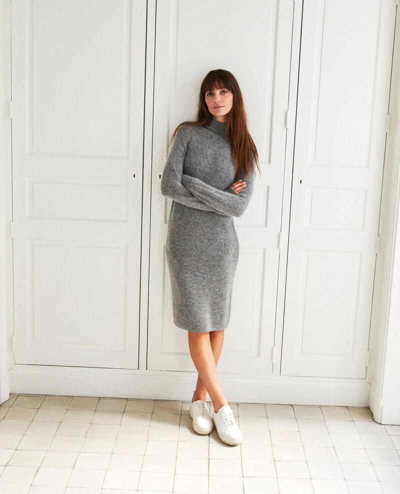 Langes Strickkleid Middle grey Joupalou
